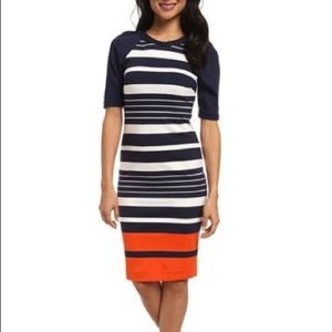 Michael Kors Striped Midi Dress NWOT!
